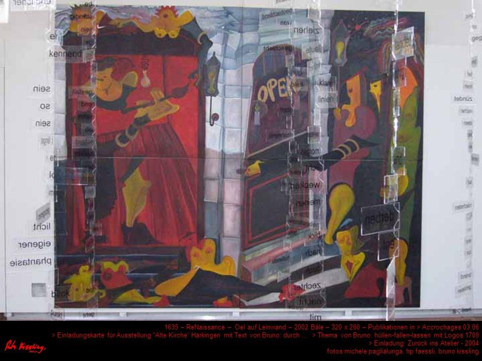 1684 Professor Rainer Ischi Oel auf Leinwand 2005 à Bâle 100 x 100 Publicité dans > ph+arts Lausanne