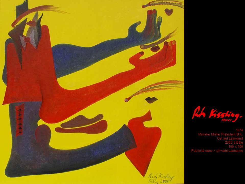 994 Le Peintre désolée Öl auf Leinwand 1993 in Paris 100 x 100 Publikation in Accrochages Lausanne ph+arts Lausanne