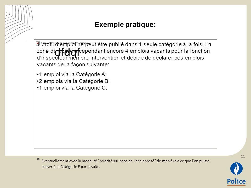 dfdqf 1 profil demploi ne peut être publié dans 1 seule catégorie à la fois. La zone de police a cependant encore 4 emplois vacants pour la fonction d