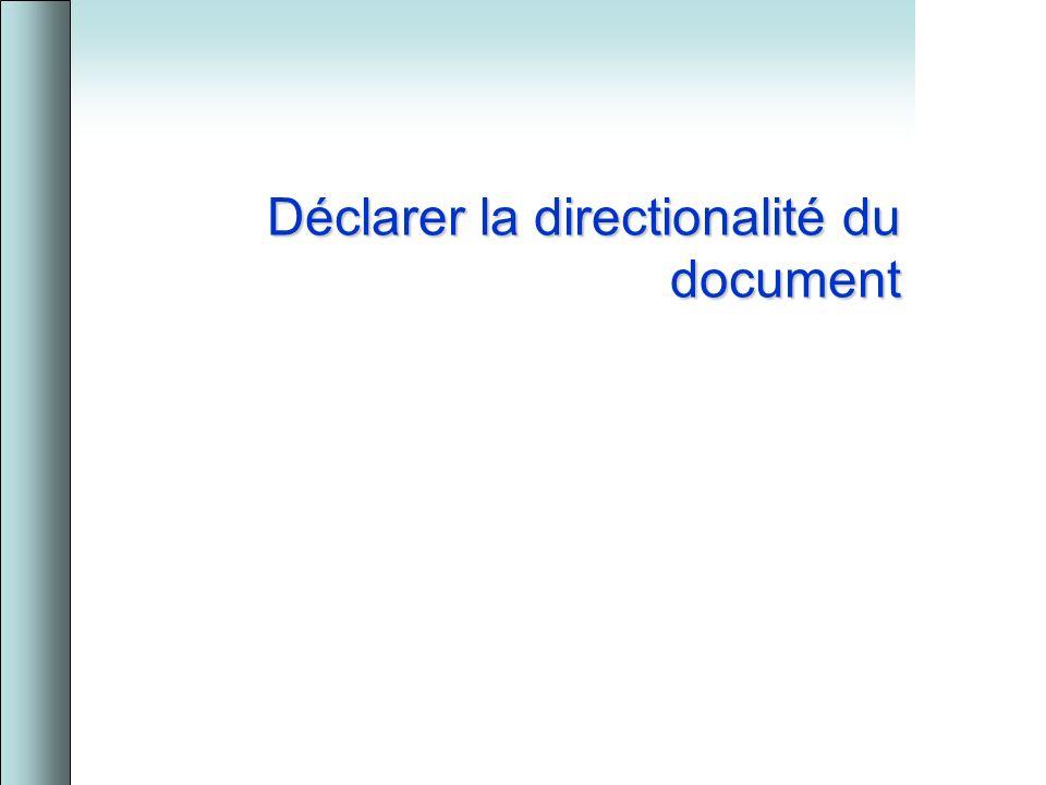Déclarer la directionalité du document