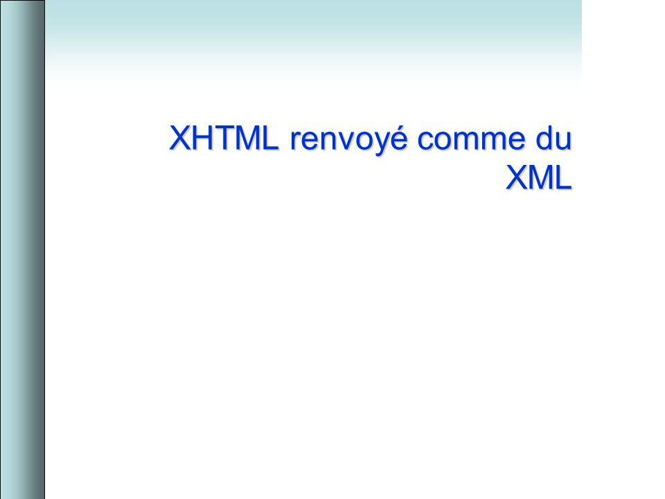 XHTML renvoyé comme du XML