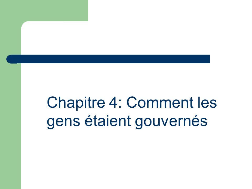 On va étudier: 1.Lévolution du gouvernement 2. Les principaux défis des gouvernement 3.