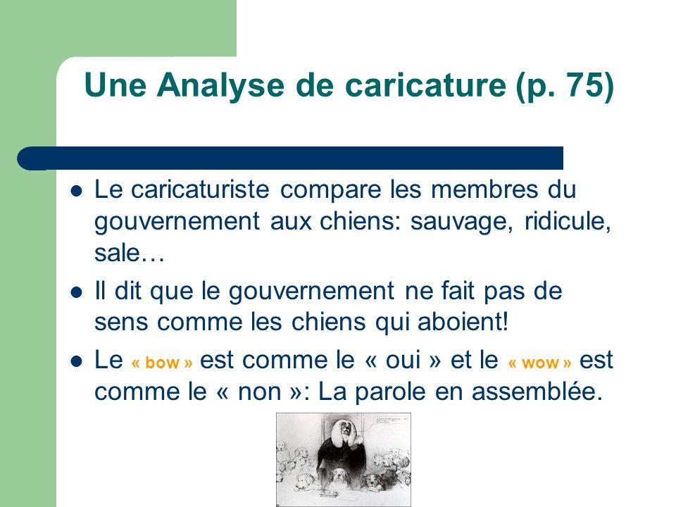 Une Analyse de caricature (p.