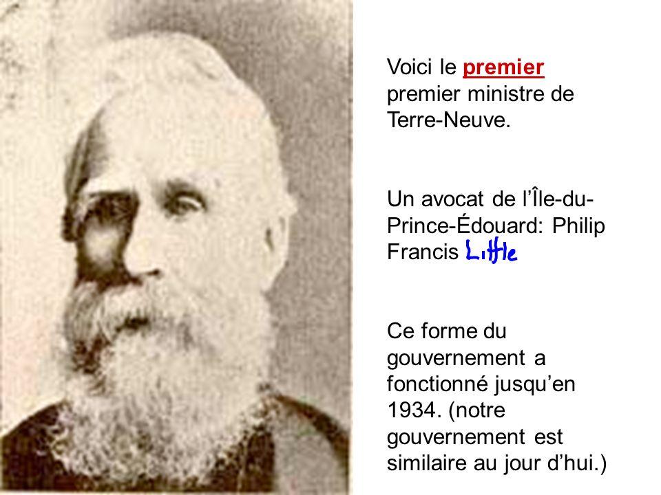 Voici le premier premier ministre de Terre-Neuve.