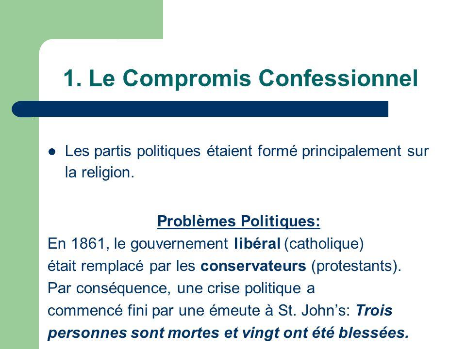 1. Le Compromis Confessionnel Les partis politiques étaient formé principalement sur la religion.