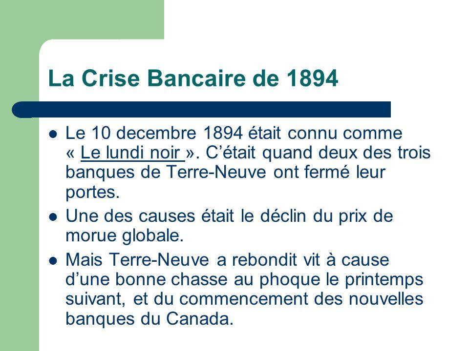 La Crise Bancaire de 1894 Le 10 decembre 1894 était connu comme « Le lundi noir ».