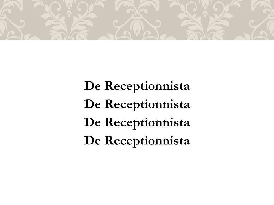 De Receptionnista