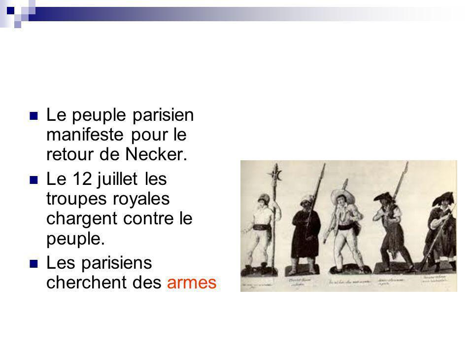 Le 14 juillet la forteresse de la Bastille est assiégée.