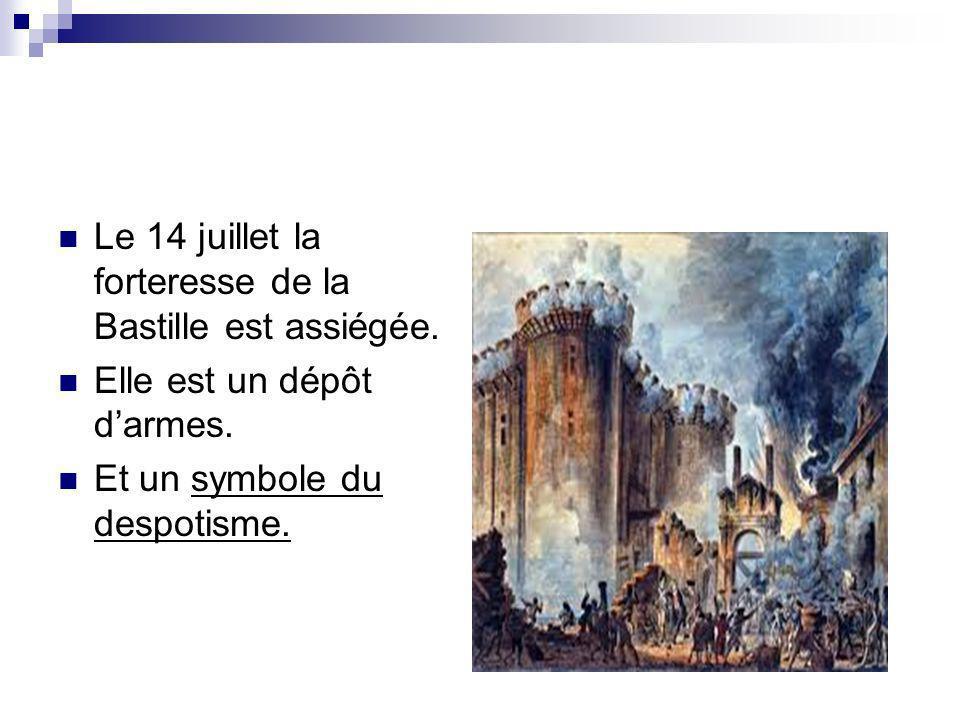 Une milice bourgeoise est créée lors de cet événement à Paris afin de faire face aux troubles dans la capitale: la Garde Nationale.