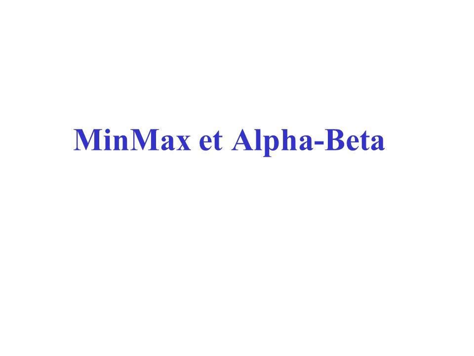 Min-Max Jeu à 2 joueurs: MAX and MIN.