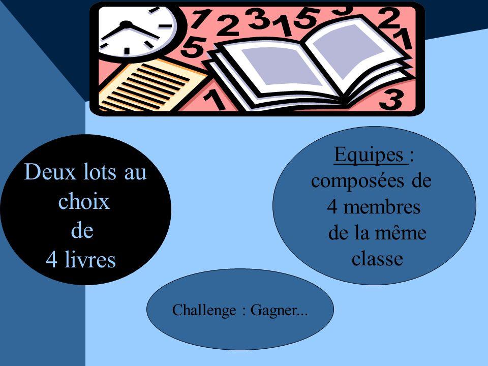 Les épreuves Un paragraphe argumentatif sur l un des 4 livres.
