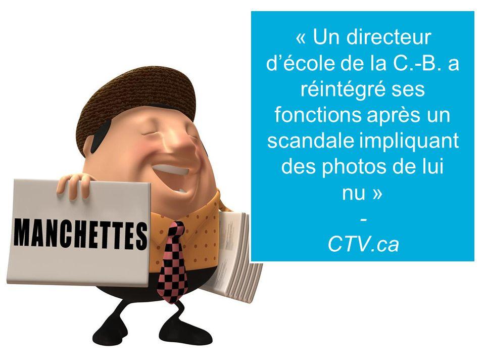 « Un directeur décole de la C.-B.