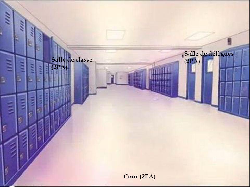 Salle de classe (2PA) Salle de délègues (2PA) Cour (2PA)
