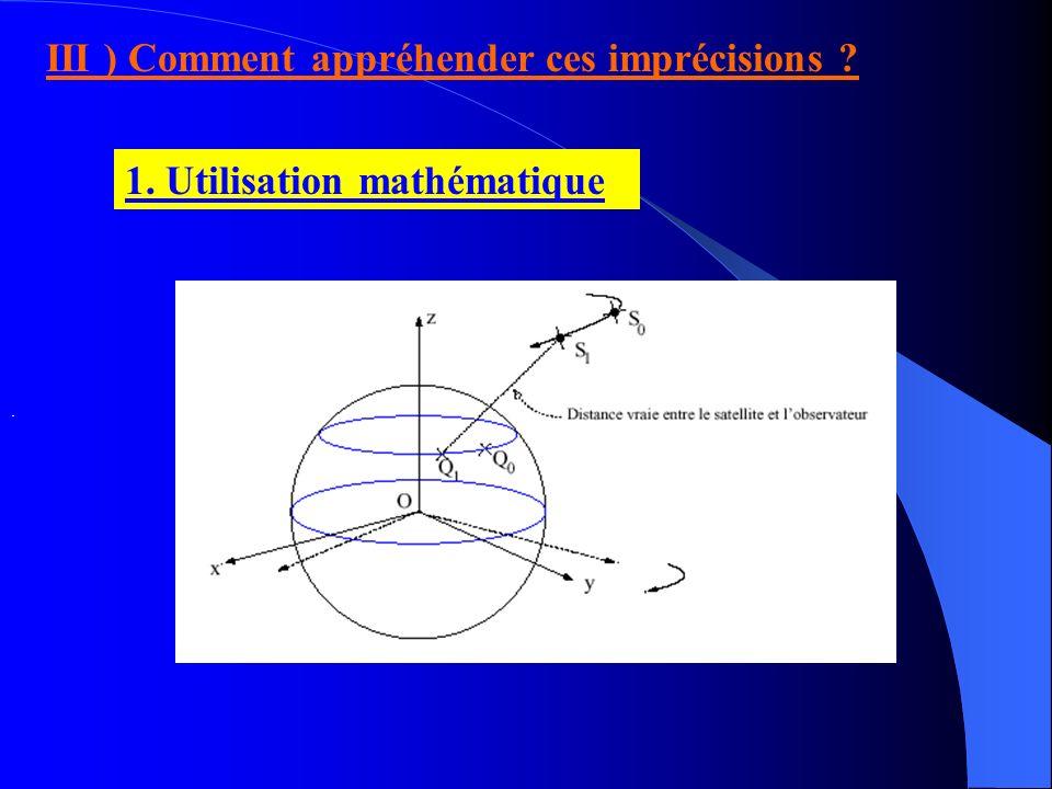 La terre n est pas une sphère Les valeurs f et N, dépendantes du milieu ne sont pas des constantes La conversion entre les deux systèmes est donc sour