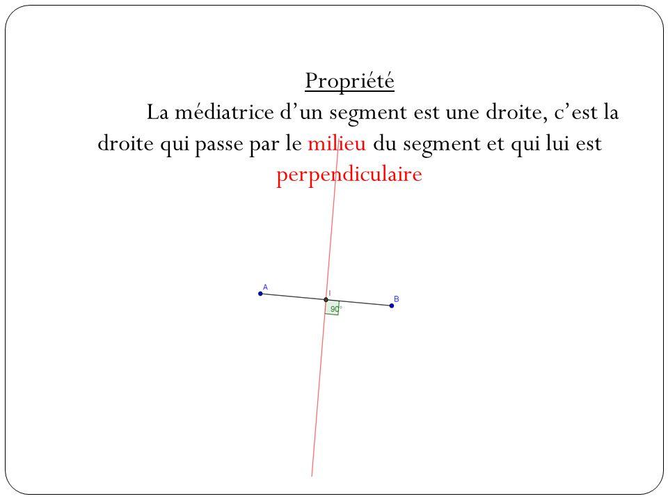 b.Médiatrices dun triangle Définition Une médiatrice dans un triangle est la médiatrice dun côté.