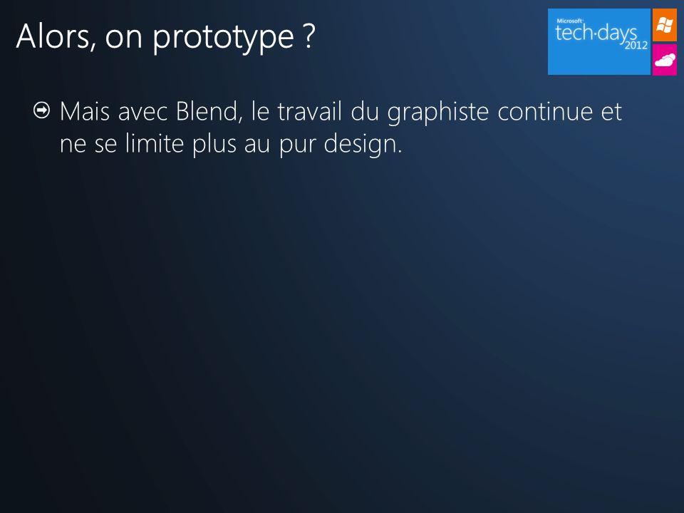 Mais avec Blend, le travail du graphiste continue et ne se limite plus au pur design.