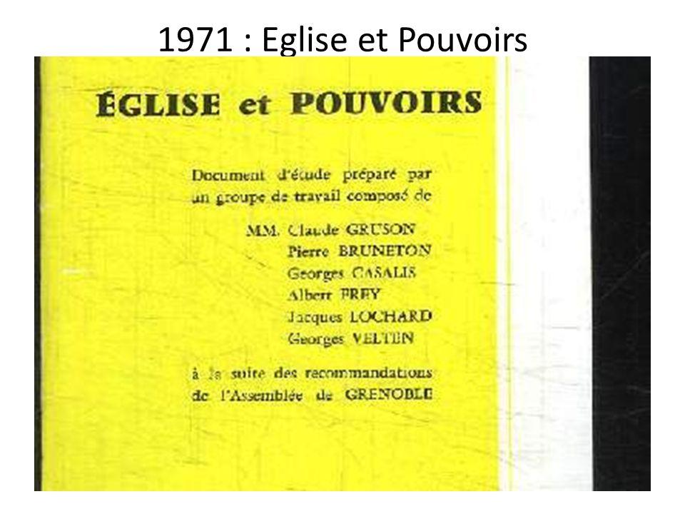 1971 : Eglise et Pouvoirs
