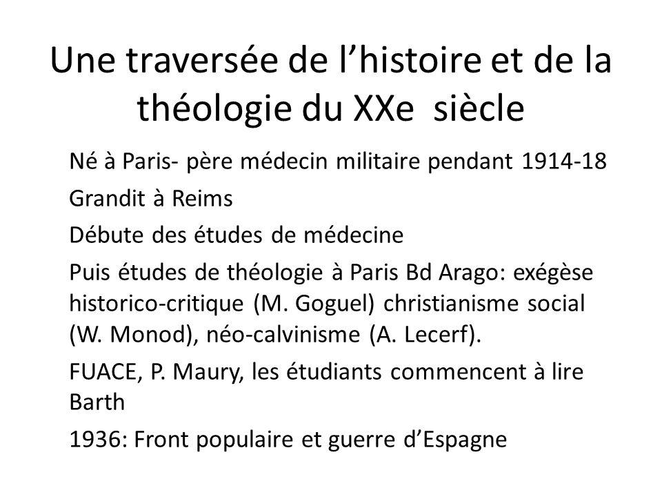 Une traversée de lhistoire et de la théologie du XXe siècle Né à Paris- père médecin militaire pendant 1914-18 Grandit à Reims Débute des études de mé