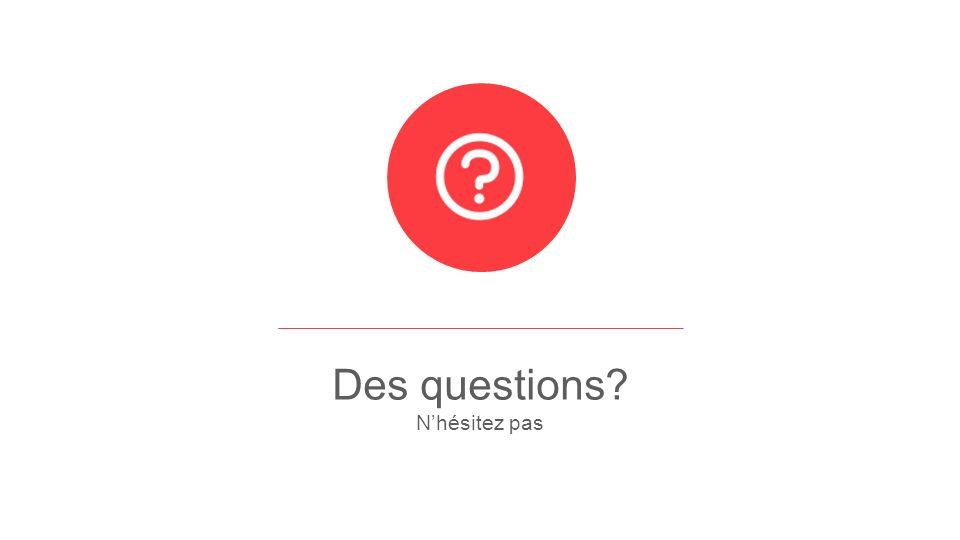 Des questions Nhésitez pas