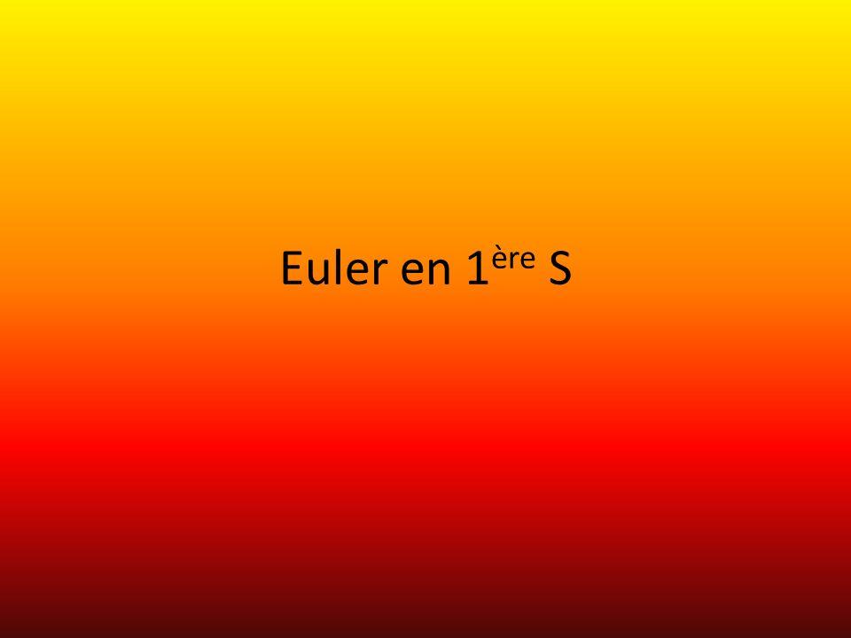 Euler en 1 ère S