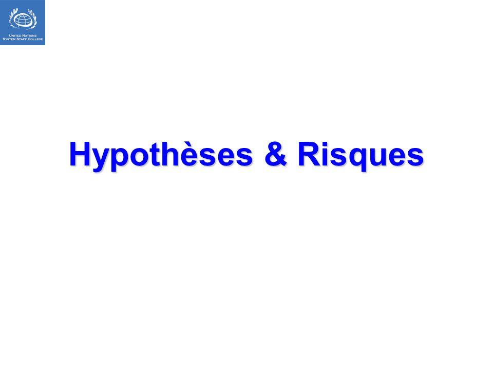 Hypothèses & Risques