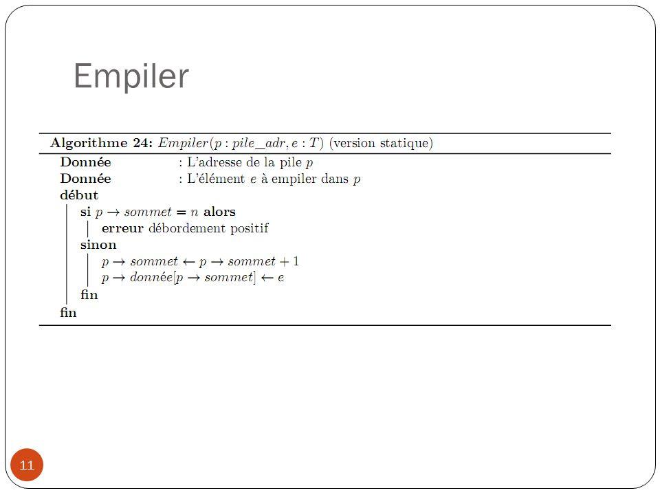 Empiler 11