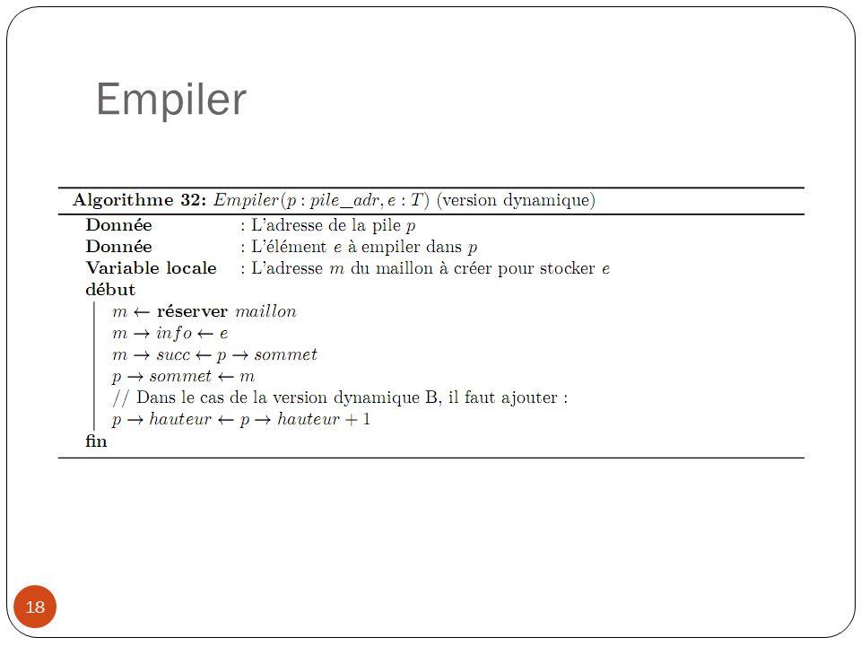 Empiler 18