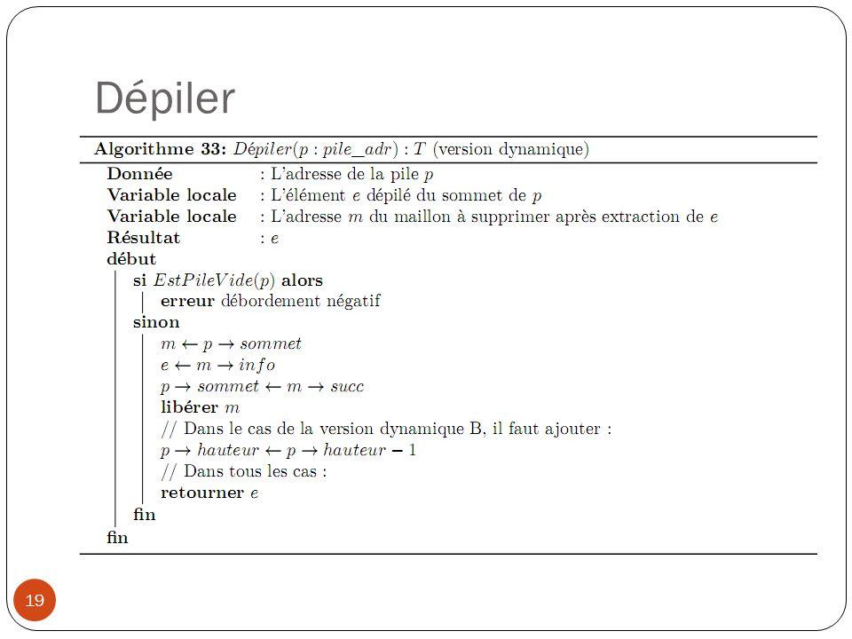Dépiler 19