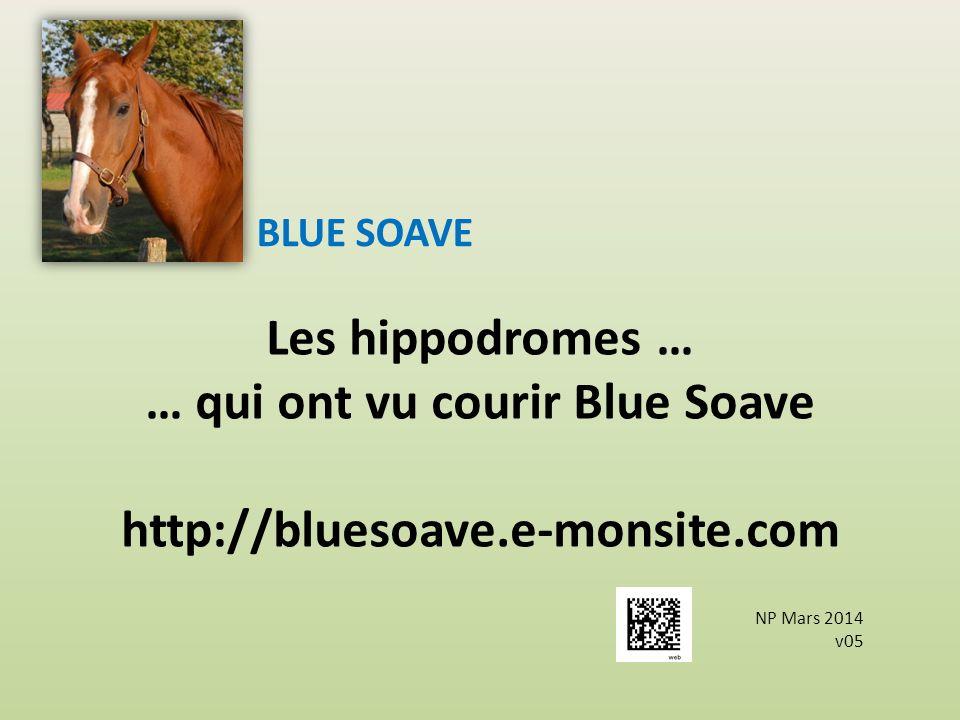 Les hippodromes … … qui ont vu courir Blue Soave http://bluesoave.e-monsite.com BLUE SOAVE NP Mars 2014 v05