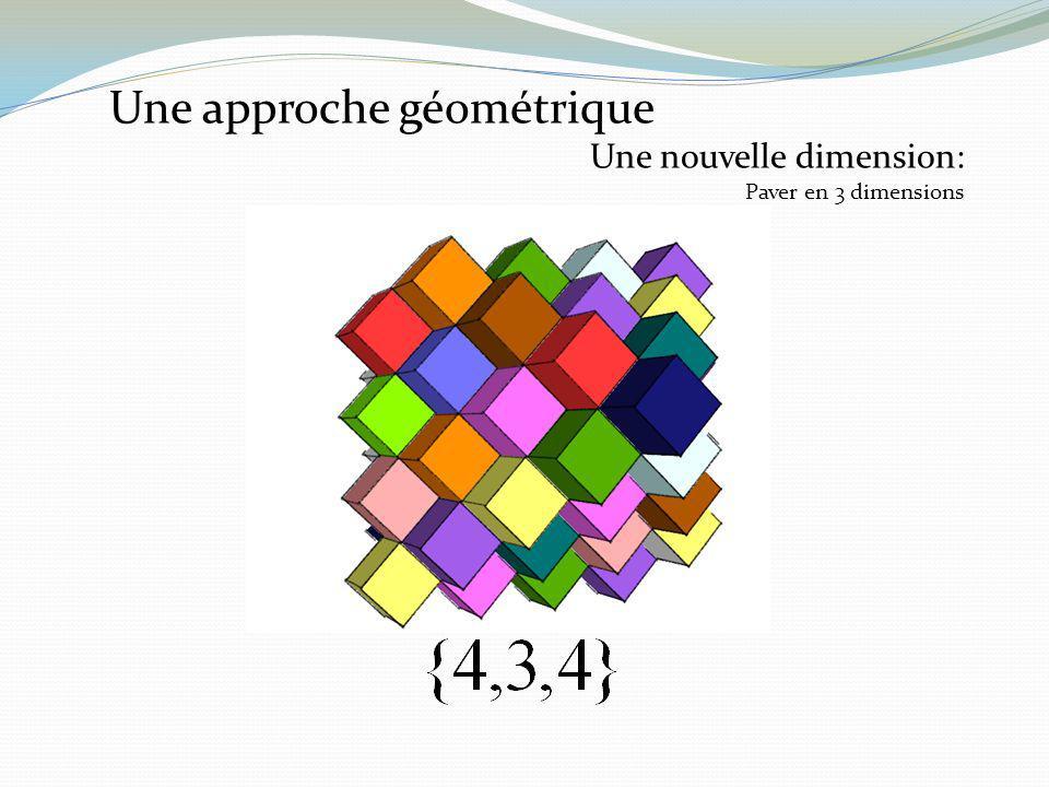 Une approche géométrique Une nouvelle dimension: Paver en 3 dimensions