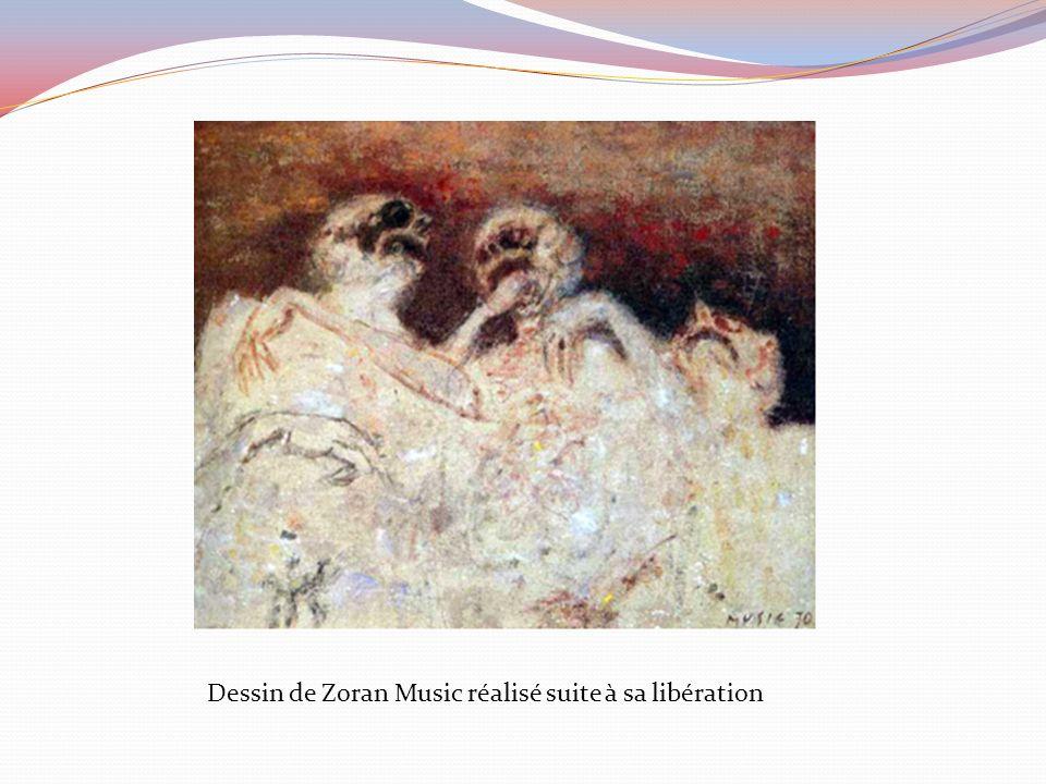 Dessin de Zoran Music réalisé suite à sa libération