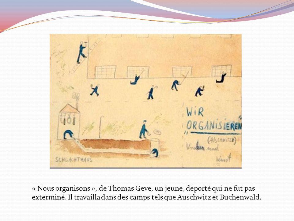 « Nous organisons », de Thomas Geve, un jeune, déporté qui ne fut pas exterminé.
