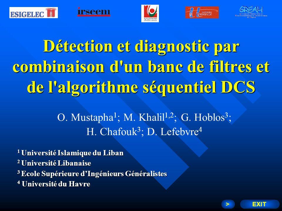 Détection et diagnostic par combinaison d'un banc de filtres et de l'algorithme séquentiel DCS O. Mustapha 1 ; M. Khalil 1,2 ; G. Hoblos 3 ; H. Chafou