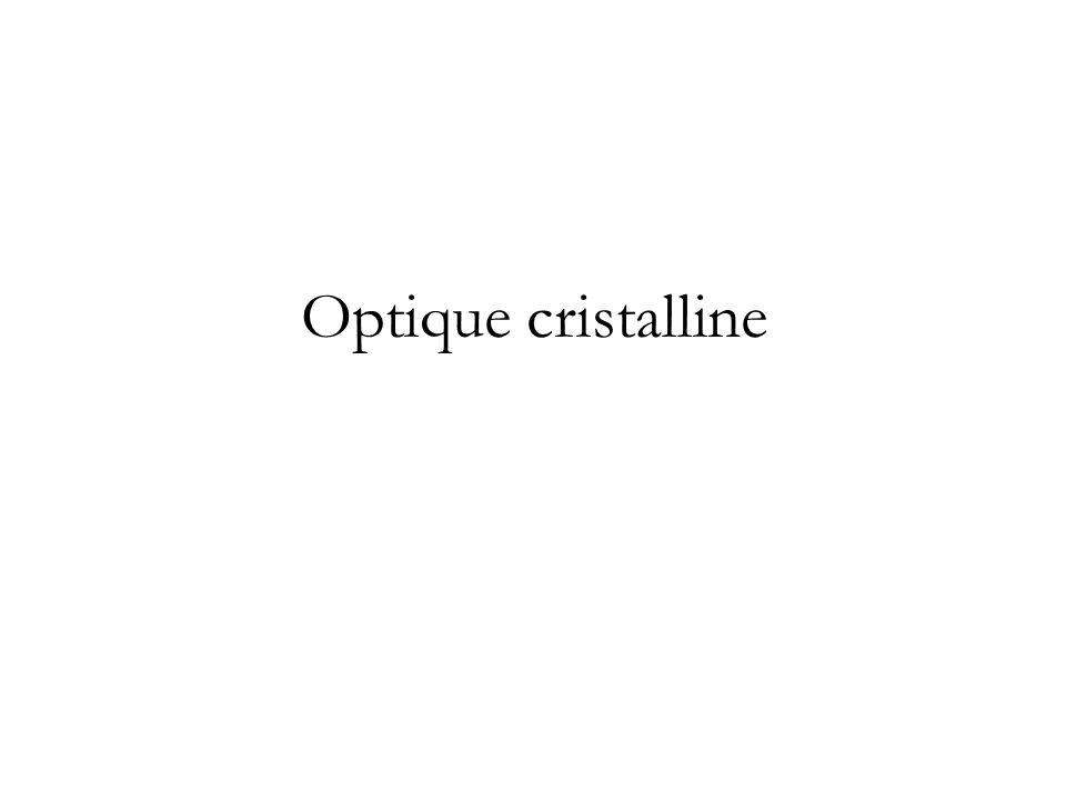 Optique cristalline