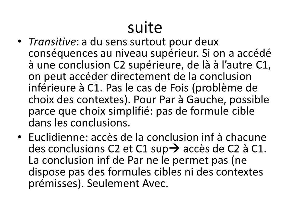 suite Transitive: a du sens surtout pour deux conséquences au niveau supérieur.