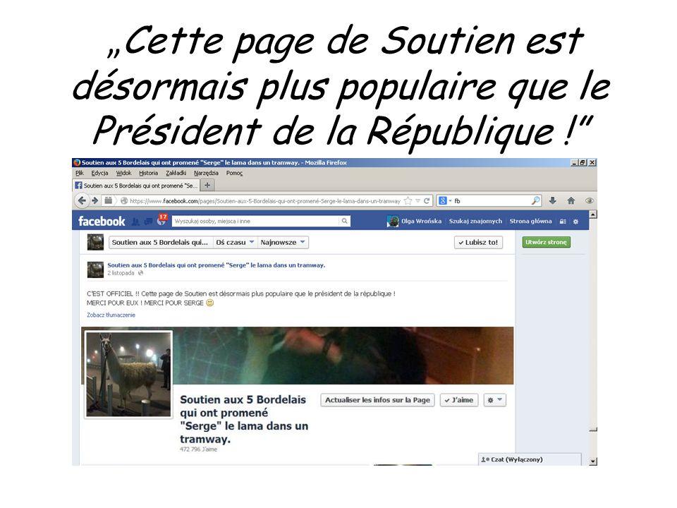 Cette page de Soutien est désormais plus populaire que le Président de la République !