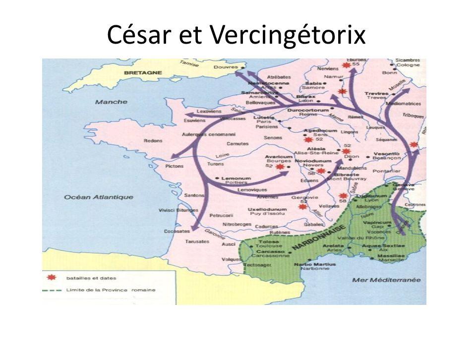 Les relations franco-allemandes - les temps anciens- -César et Vercingétorix -Varus et Arminius -Charlemagne, Empereur des Francs
