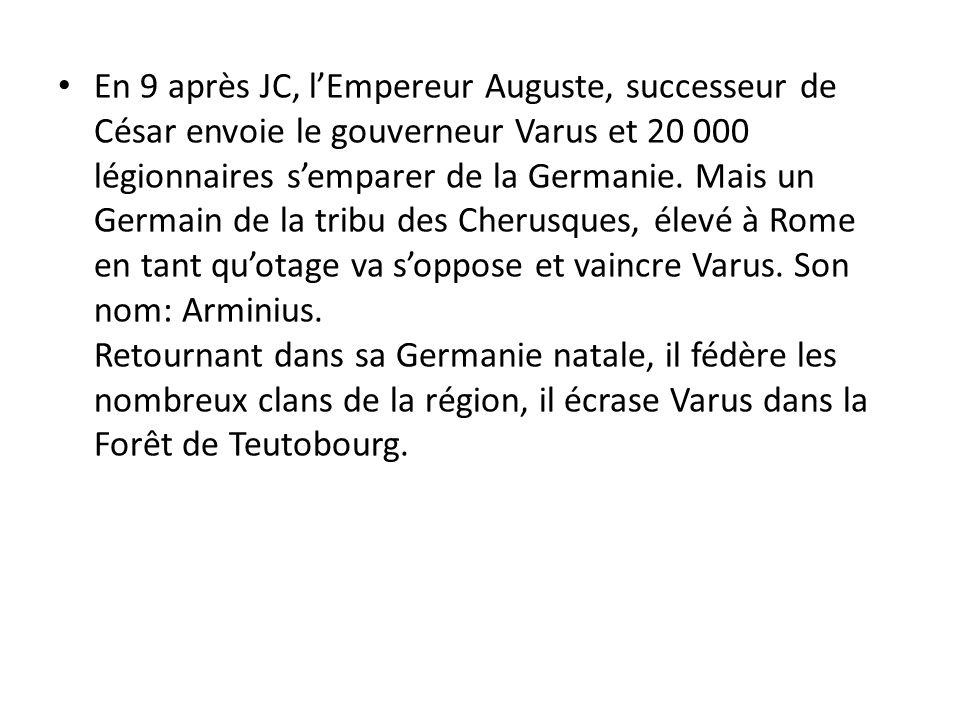 Varus et Arminius Empire Romain Germanie