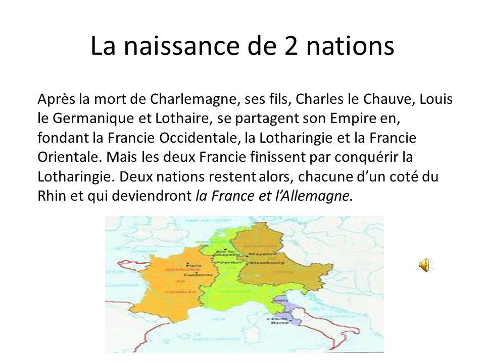 De Royaume à Empire Royaume des Francs sous Pépin le Bref Les Expansions de Chalemagne Aix-La Chapelle Charles 1 er, plus connu comme Chalemagne succè