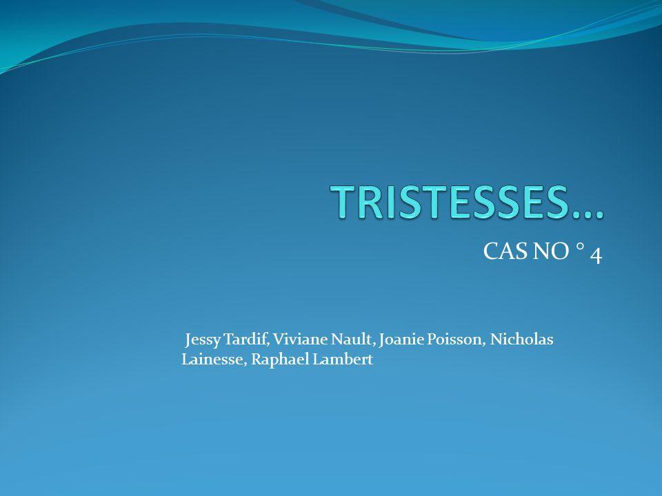 CAS NO ° 4 Jessy Tardif, Viviane Nault, Joanie Poisson, Nicholas Lainesse, Raphael Lambert