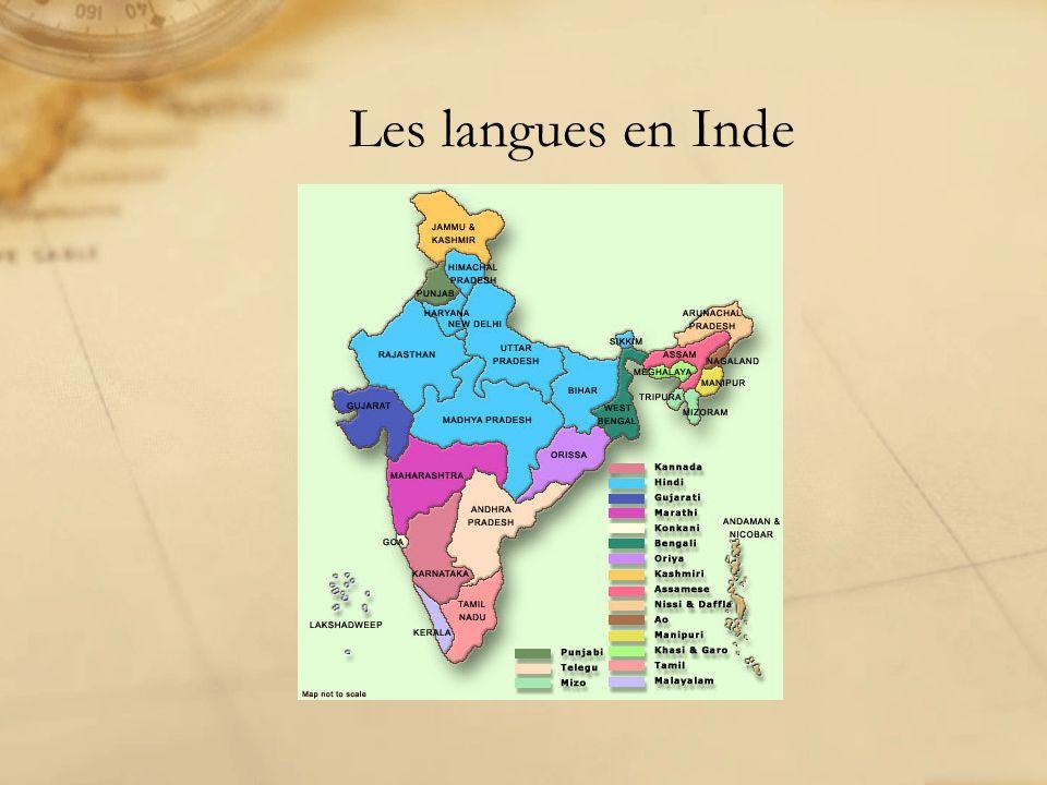 Les langues en Inde