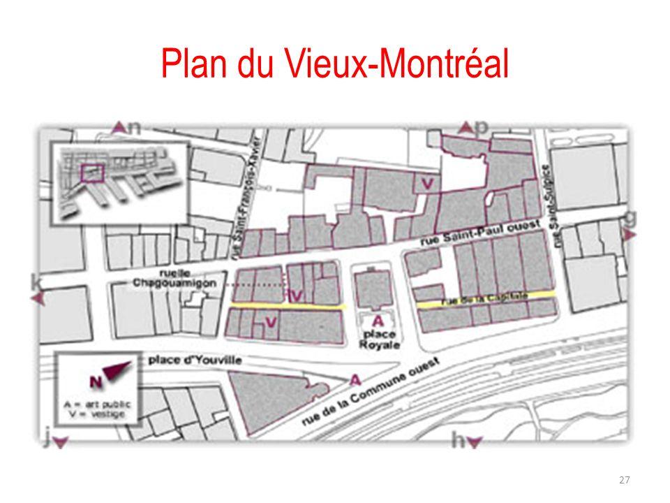 Plan du Vieux-Montréal 27