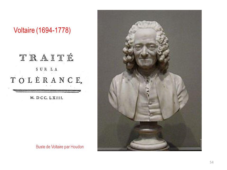 Voltaire (1694-1778) Buste de Voltaire par Houdon 54