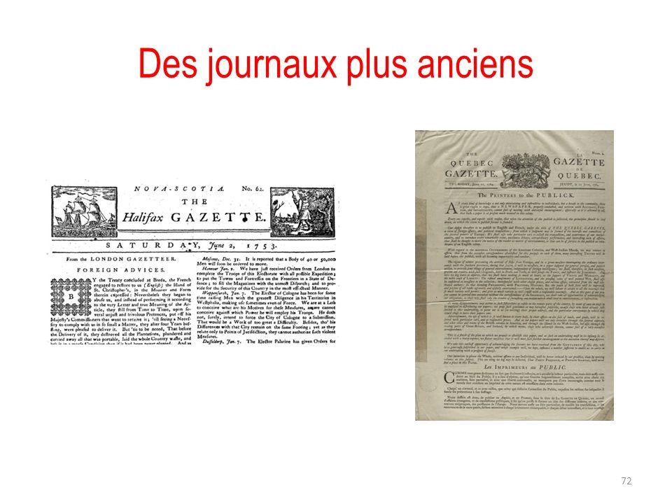 Des journaux plus anciens 72