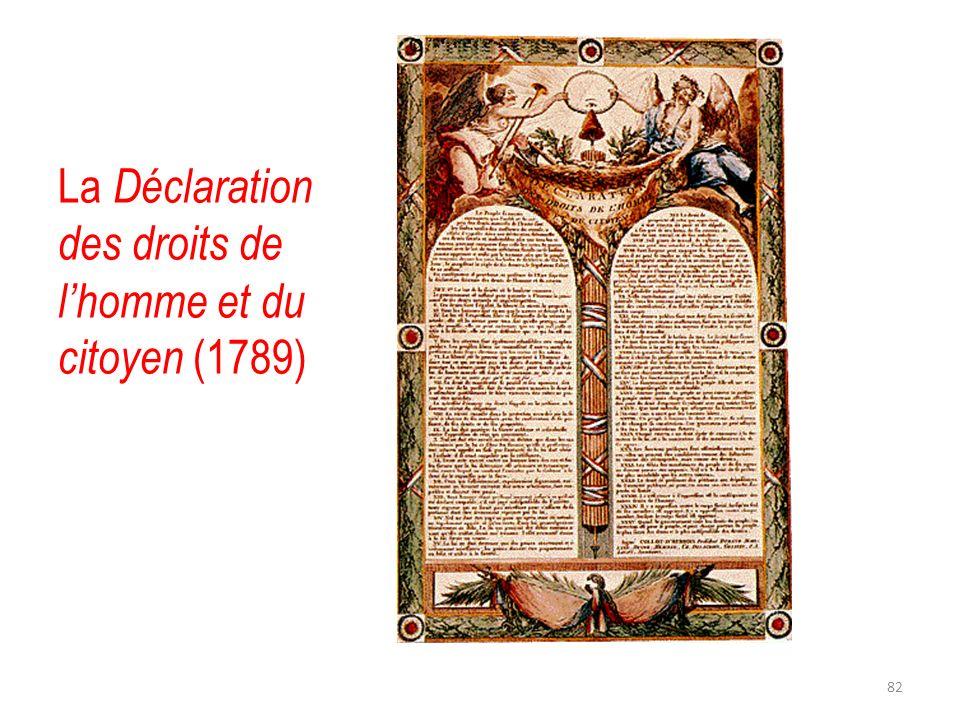 La Déclaration des droits de lhomme et du citoyen (1789) 82