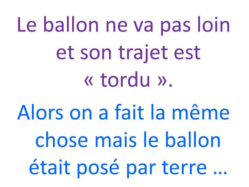 VOILÀ: LE BALLON SE DÉPLACE HORIZONTALEMENT, LE PLUS LOIN POSSIBLE ET SANS QUON LE TOUCHE!!!