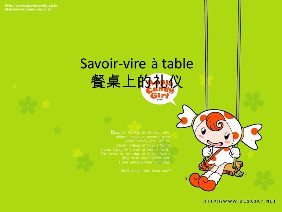 Savoir-vire à table