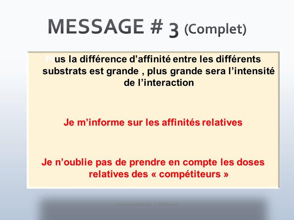 Jean-Louis Brazier - 2 JUIN 2010 Les mêmes interactions potentielles ont-elles les mêmes effets chez tous nos sujets ?