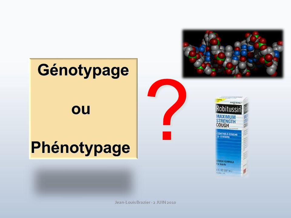 GénotypageouPhénotypage ?