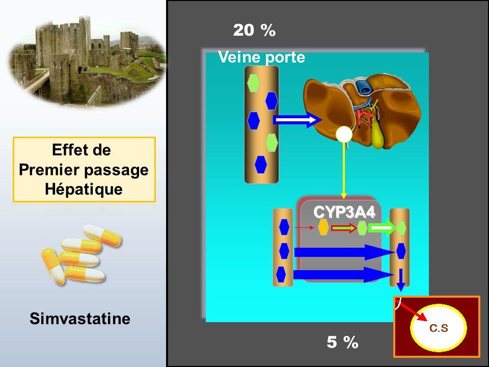 Jean-Louis Brazier - 2 JUIN 2010 Veine porte CYP3A4 Simvastatine 20 % 5 %